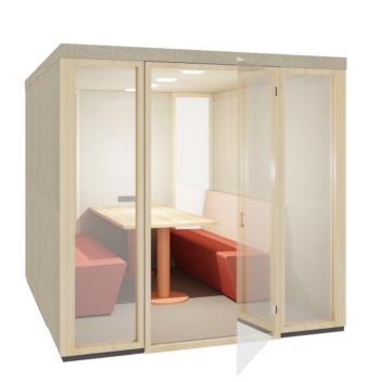 Ply Booth Maxi open door